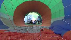 Flame from hot air balloon from inside balloon Stock Footage