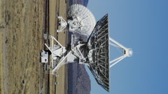 Large Radio Telescopes searching for signals from Space Stock Footage