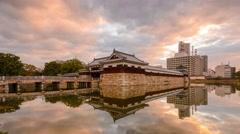 Hiroshima Castle Moat Stock Footage