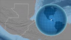 Guatemala and Globe. Set of five animations plus matte Stock Footage