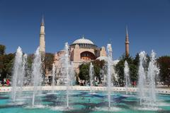 Hagia Sophia museum in Istanbul City, Turkey - stock photo