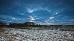 4k timelapse of winter landscape - stock footage