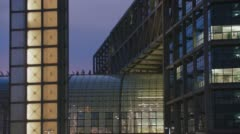 Berlin Central Station Office Building Stock Footage