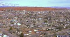 St.George Utah pan to temple Stock Footage