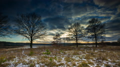 4k timelapse of winter landscape Stock Footage