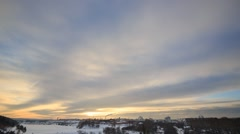 Bright winter day. Ekaterinburg. Russia. TimeLapse Stock Footage