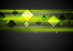 Dark green glowing tech background - stock illustration