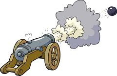 Cartoon artillery cannon Stock Illustration