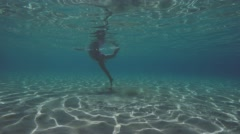 Swimming And Playing Underwater Stock Footage