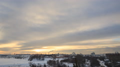 Clouds over the city in winter. Ekaterinburg. Russia. TimeLapse Stock Footage