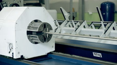 Metall processing on a modern plant - stock footage