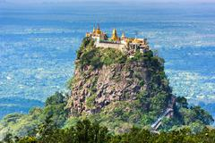 Mt. Popa, Mandalay Division, Myanmar. Stock Photos