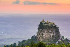 Mt. Popa of Myanmar Stock Photos