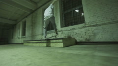 Man makes a trick on a skateboard Stock Footage