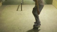 Skater ride in skatepark Stock Footage