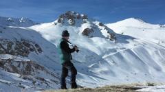 Traveler pictures  landscape - stock footage