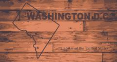 Washington DC Map Brand - stock illustration