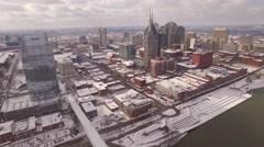 Nashville Snow- Static Skyline Shot - stock footage