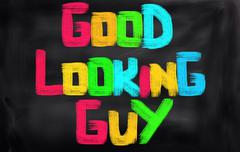 Good Looking Guys Concept - stock illustration