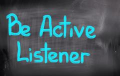 Be Active Listener Concept - stock illustration