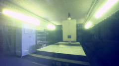 Laser robotic metallcutter operates with metall Stock Footage