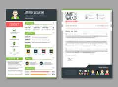 CV layout template - stock illustration