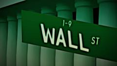 Wallstreet wall street money manager stock market Stock Footage