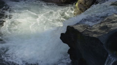 120fps slow motion rapid river white water close up Red Dragon Camera - stock footage