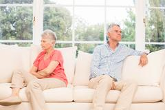 Senior couple not speaking after an argument Stock Photos