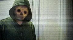 Creepy pasta concept weird creep horror story - stock footage