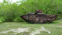 American Armored Vehicle Military Tank Peleliu Battle World War II Stock Footage