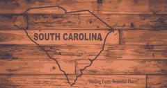 South Carolina Map Brand - stock illustration