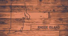 Rhode Island Map Brand - stock illustration