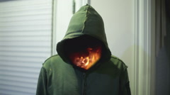 fire demon shiva - stock footage