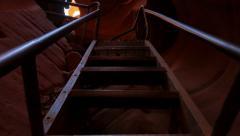 4K Antelope Canyon 21 Slot Canyon Stairs Stock Footage