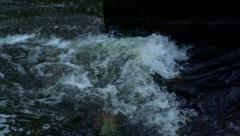 Slowmotion wildly flows water - stock footage
