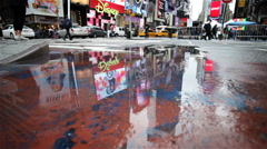 Reflections in Times Square, New York City, USA Stock Footage