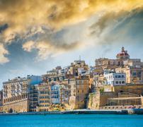 View on Valletta from sea Stock Photos