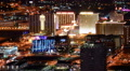 Las Vegas Cityscape 13 Time Lapse Downtown Pan R HD Footage