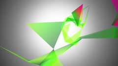 Abstraction geometrical colourful composition with triangles Stock Footage