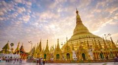 Shwedagon in Yangon Stock Footage