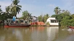 Mekong river delta in Vietnam Stock Footage