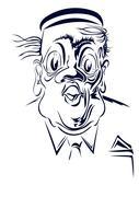 Caricature. Portrait of a porter Stock Illustration