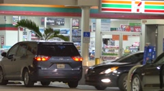 7 eleven convenience store - stock footage