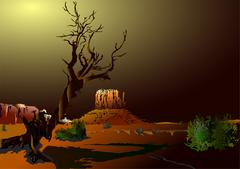 Mountain Valley - stock illustration