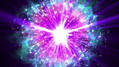 Supernova bigbang blast thunder bolt shock wave explosion extreme thrilling bomb Stock Footage