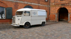 The old Citroen Van has been loved by French tradesmen for many years Stock Footage