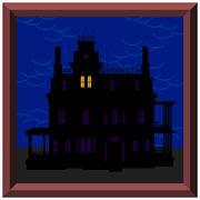 Stock Illustration of Creepy House