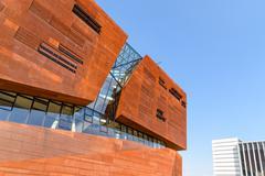 Teaching Center of Vienna University of Economics and Business Stock Photos