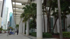 Brickell architecture Business district Stock Footage